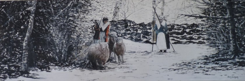 Bleak Times     Oil on canvas.  76x26x3.5cm.  $450.00