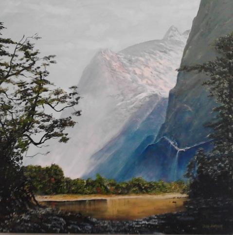 Fiordland 46cmWX46cmH Oil on Canvas SOLD