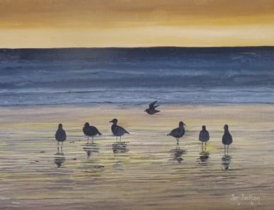 Goodnight Guys Oil on Canvas 30cmW X 23cmH $290