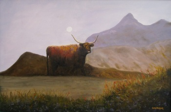 Highlander Oil on Canvas 72cmWX51cmH $850