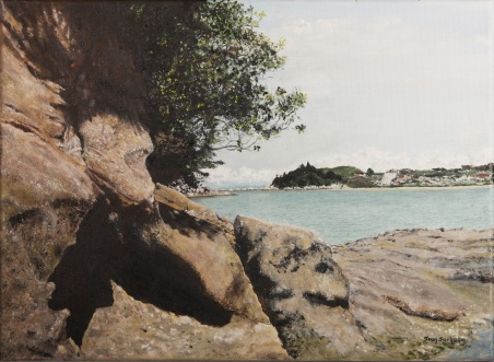 Kaiteriteri Rocks Oil on canvas. 76cmX38cm $550.00