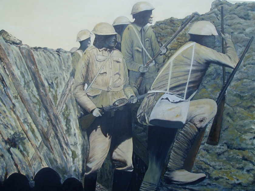 Lest We Forget.  Oil on Canvas 1020mmWX760mmH $1,500