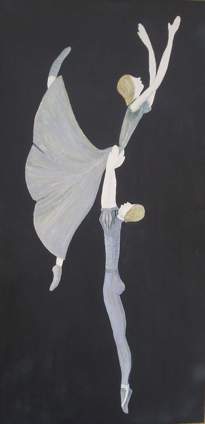 Modern Ballet 920mmX360mmX32 Oil on Canvas $390