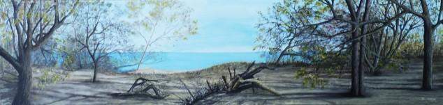 Rabbit Island Oil on Canvas 102cmX30cm $690