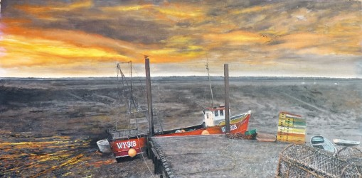 Waiting for the Tide Oil on canvas, 91cm x 45.5cm $950.00