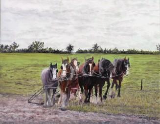 Teamwork Oil on Canvas 45cmW X 35cmH $450