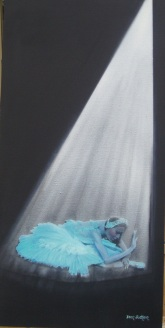 The Dying Swan Oil on canvas 30cmW X 61cmH X 3.5D $550