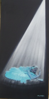 The Dying Swan Oil on canvas 30cmW X 61cmH X 3.5D $550