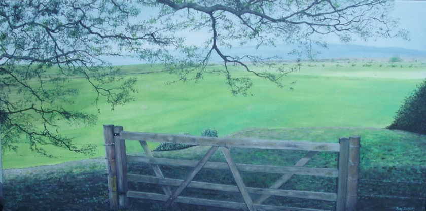 View from the Gate 920mmWX450mmHX32 Oil on Canvas $750