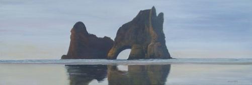 Wharariki Beach 60cmX50cm Oil on Canvas $490