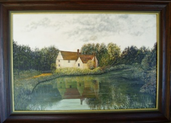 Willy Lotts Cottage, Framed, Oil on Canvas, 915X655X35, $950.