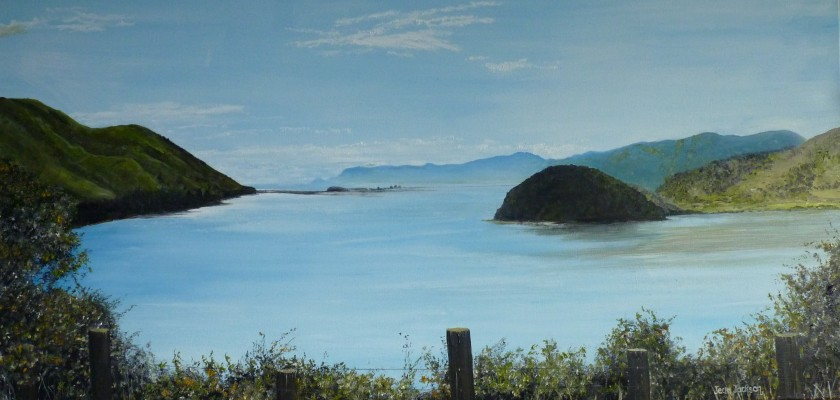 Cable Bay 2,  Oil on Canvas,  76 cm x 38 cm,  NZ$490.00