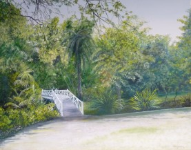 Queens Gardens, Oil on Canvas, 71 cm x 56 cm, NZ$750.00