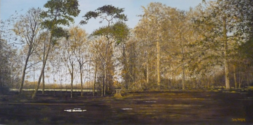 The Woodland , Oil on Canvas, 76 cm x 38 cm, NZ$550.00