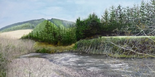 Aniseed Valley, Oil on Canvas 91cmWX46cmH $950
