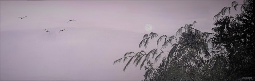 Blue Moon Oil on Canvas 91cmW X 39cmH $390