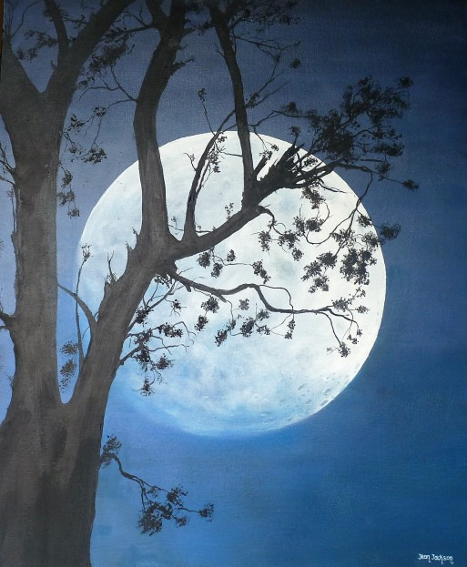 Moonlight Magic Oil on Canvas 51cmW X 62cmH SOLD