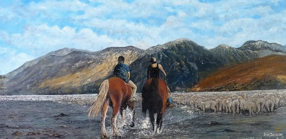 The Muster Oil on Canvas 60cmW X 50ccmH $390