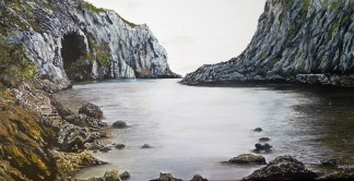 Smugglers Hole Oil on Canvas 36cm W X 38cm H $590