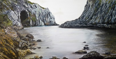 Smugglers Hole Oil on Canvas 36cm W X 38cm H $590 SOLD
