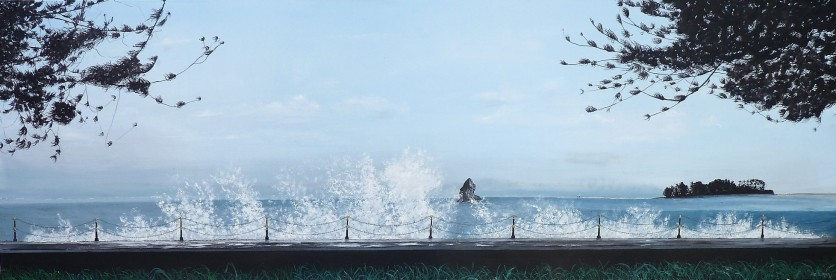 Breaking Waves, Nelson Oil on Canvas 152 cm W X 30 cm H $850 SOLD