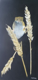 Mouse on Wheat Oil on Canvas 31cmW X 61cm H $290