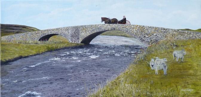 The Scottish Highlands Oil on Canvas 60cm W X 30cm H $290
