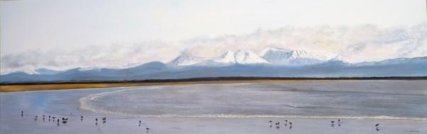 Tahunanui Beach Oil on Canvas 152 cm W X 51 cm H $850 SOLD