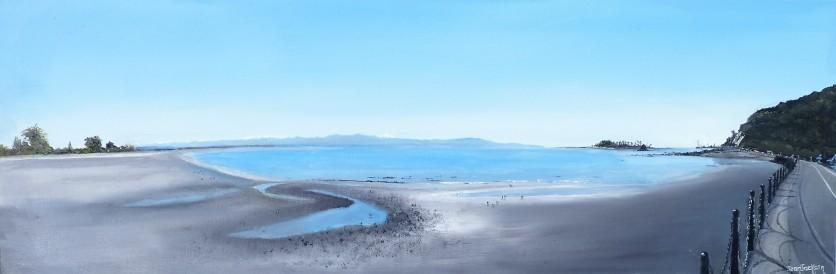 Tahunanui, Rocks Road Oil on Canvas 76cm W X 25cm H $390