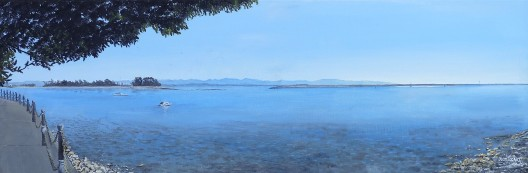 The Cut, Nelson Oil on Canvas 76cm W X 25cm H $390 SOLD