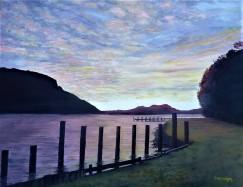 Cherry Tree Bay, D'Urville. Oil on Canvas 46cm W X 35cm H $390