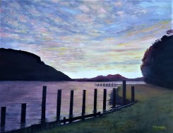 Cherry Tree Bay, D'Urville. Oil on Canvas 46cm W X 35cm H SOLD
