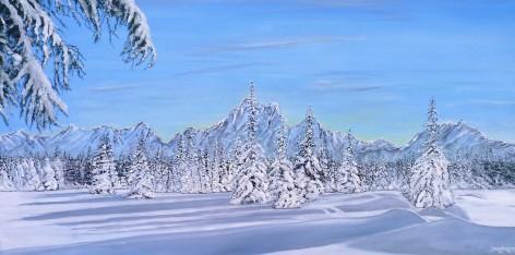 Deep in Alaska Oil on Canvas 102 CM W X 51 CM H $850