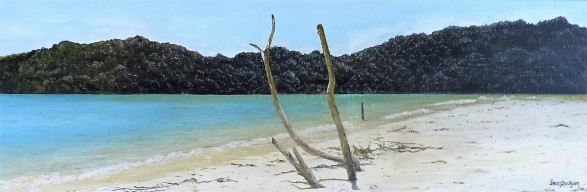The Anchorage, Torrent Bay Oil on Canvas 76 cm W X 26 cm H $450