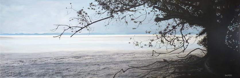 Erosion, Back Beach Oil on Canvas 122cm W X 40cm H $950