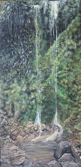 """The Old Ghost Trail"" Oil on Canvas 30cm X 60cm $390"