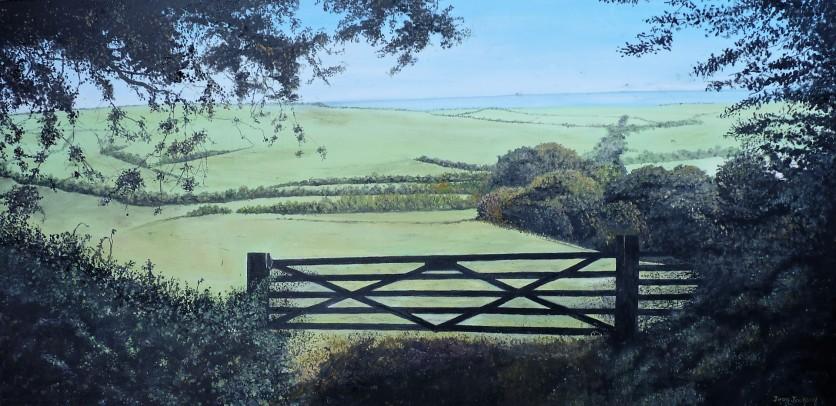 Rural Serenity Oil on Canvas 90cm W X 45cm H $850