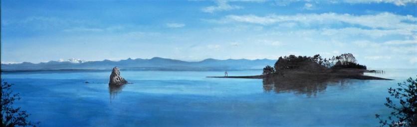 Tasman Bay Nelson Oil on Canvas 91cm W X 31cm H $690