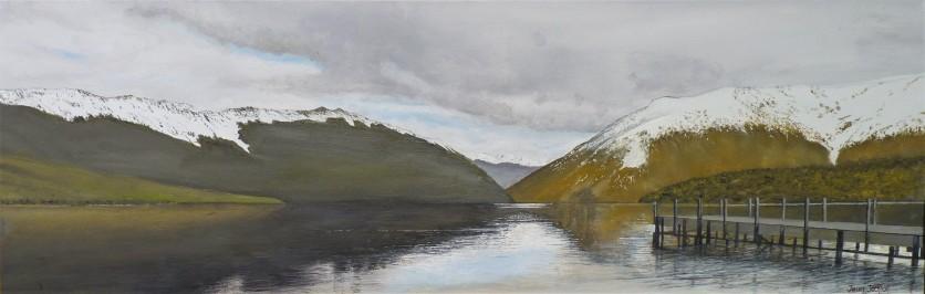 Lake Rotoiti Oil on Canvas 76cm W X 26cm H $590
