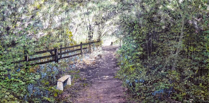 Stroll in the Bluebellwood 76 cm W X 37 cm H $590 SOLD