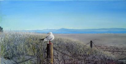 Tahunanui Beach 2020 Oil on Canvas 61cm W X 31cm H SOLD