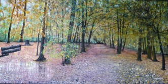 Autumn in the Wood Oil on Canvas 75cm W X 38cm H $690