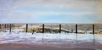 Pounding Waves Oil on Canvas 76cm W X 39cm H $690