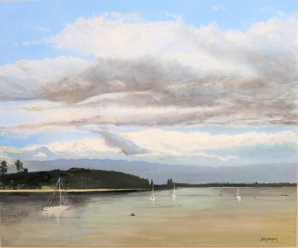 Mapua Inlet Oil on Canvas 51cm W X 61cm H $590