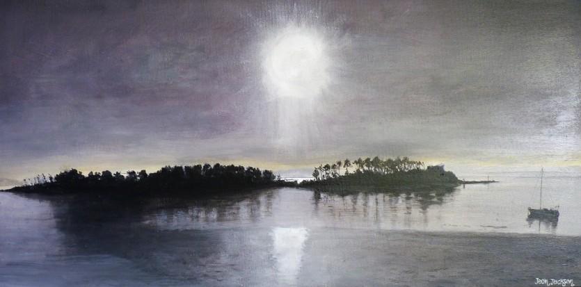 Haulashore Moonlight Oil on Canvas 61cm W X 30cm H $690