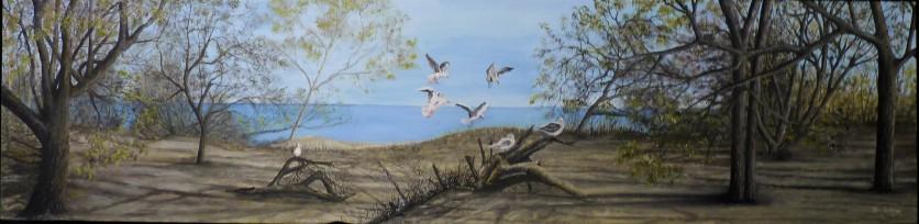 Rabbit Island Oil on Canvas 122cmW X 30cmH $690